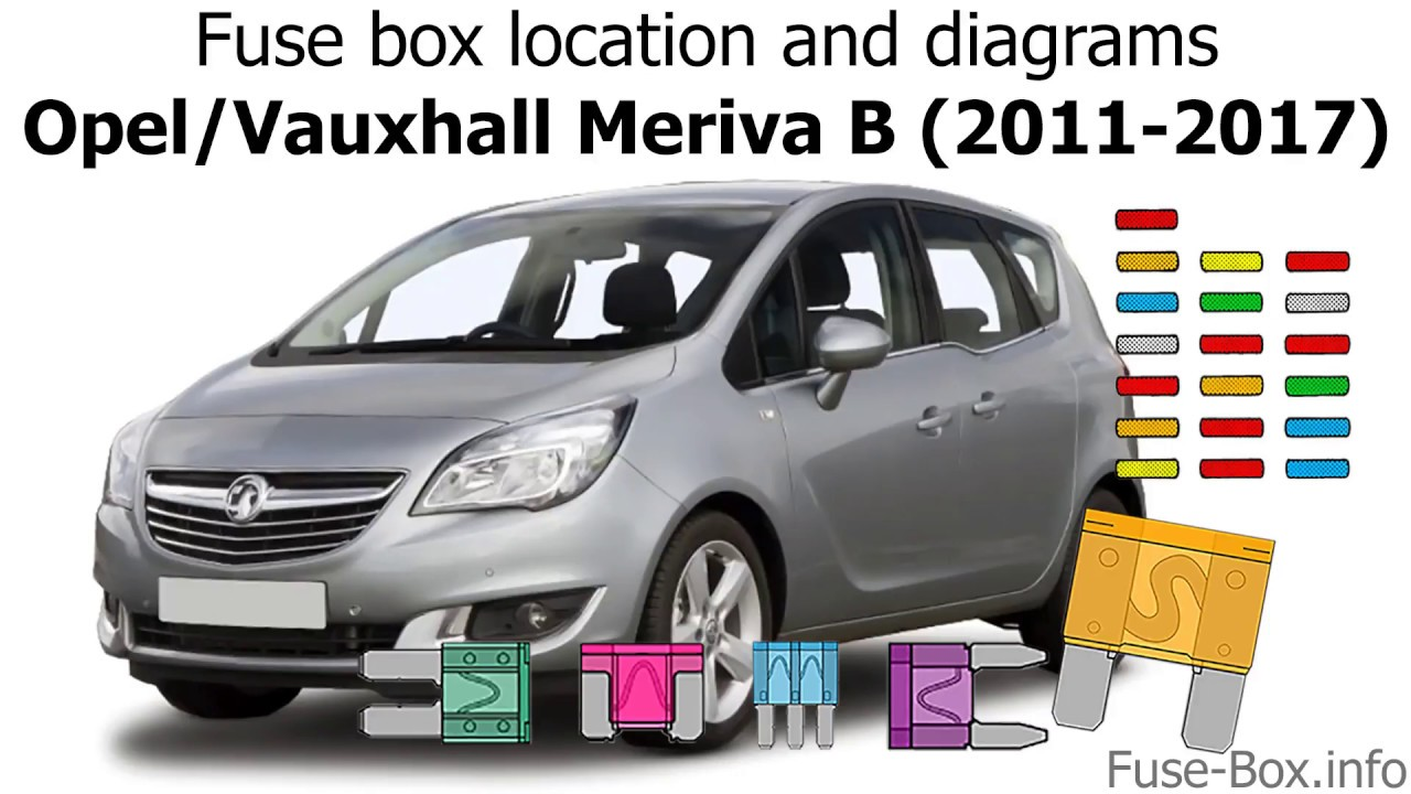 fuse box location and diagrams opel vauxhall meriva b 2011 2017  [ 1280 x 720 Pixel ]