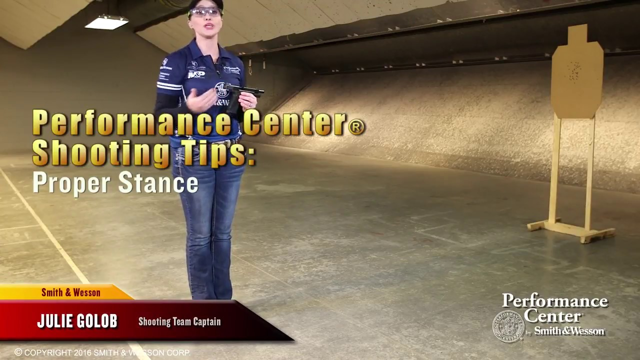 Smith & Wesson Performance Center Shooting Tips:  Proper Stance