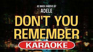 Video Don't You Remember Karaoke Version by Adele (Video with Lyrics) download MP3, MP4, WEBM, AVI, FLV April 2018