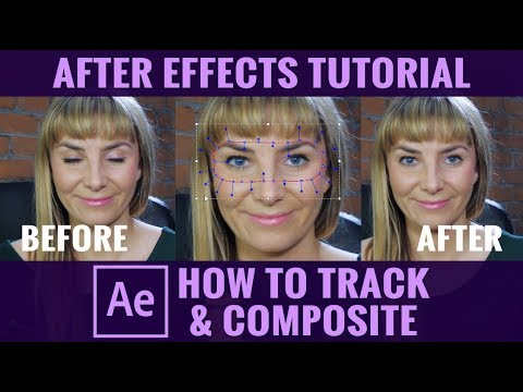 How To Track & Composite To Remove A Blink - After Effects Tutorial