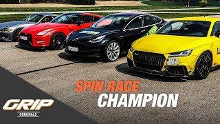 Spin & Go Race: Audi TT RS, Nissan GTR MM Racing, BMW Z4 V10, Tesla Model 3 [4/4] | GRIP Originals