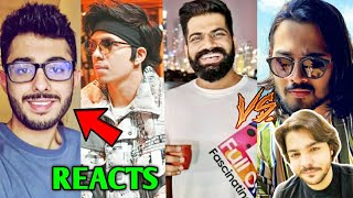 Atta Halilintar Reacts To CarryMinati No.1 Asian YouTuber | PUBG Unban, Guruji Vs BB, RawKnee,Ashish