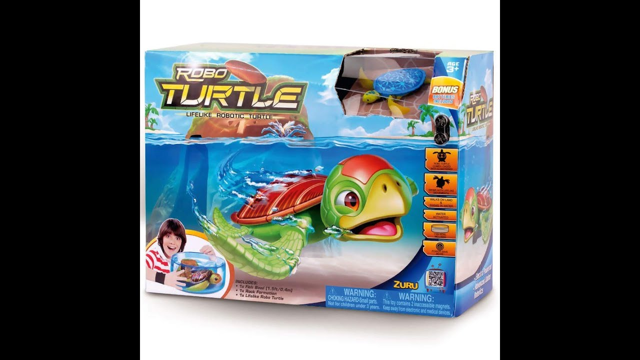Zuru robo turtle unboxing exclusive youtube for Turtle fish games