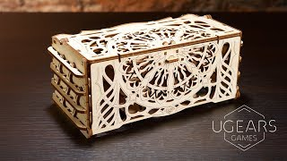 Card Holder | Mechanical Wooden Device for Tabletop Games | Ugears Games Collection
