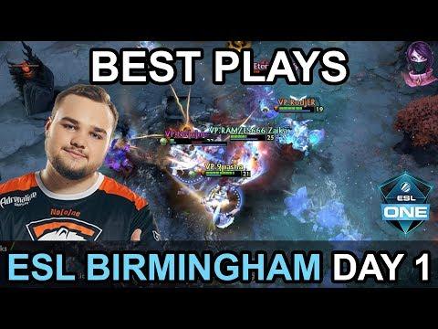 ESL One Birmingham 2018 Major BEST PLAYS DAY 1 Highlights by Time 2 Dota #dota2