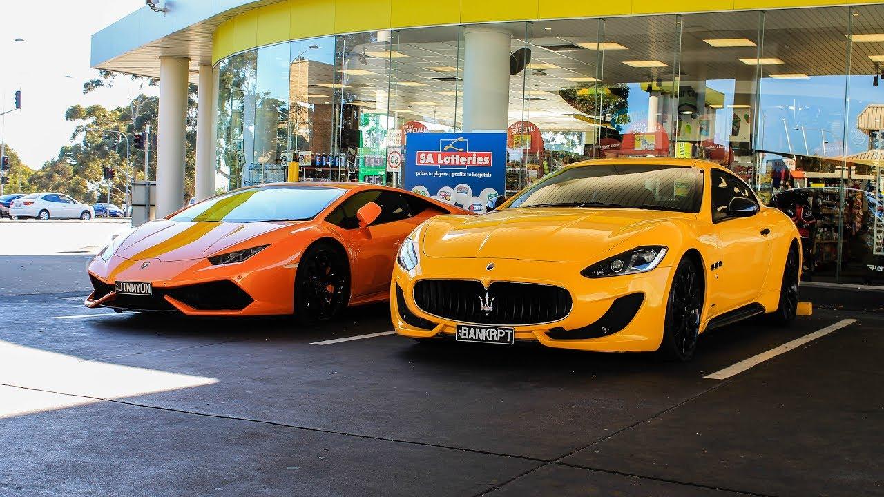Lamborghini Huracan & Maserati GranTurismo - Start up & acceleration