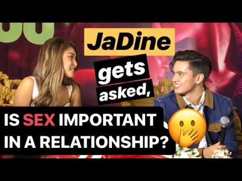 "JADINE gets asked, ""Is SEX important in a relationship?"" 