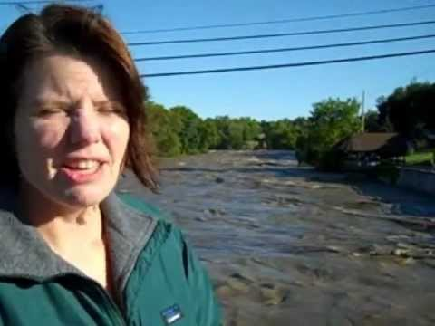 Adirondacks Under Seige from Irene, flooding.