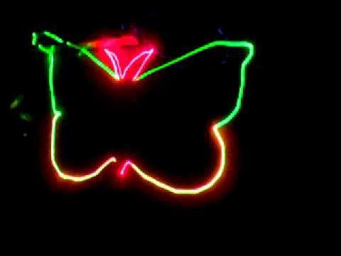 Đèn laser Red Green Yellow quét hình + tia - Den san khau