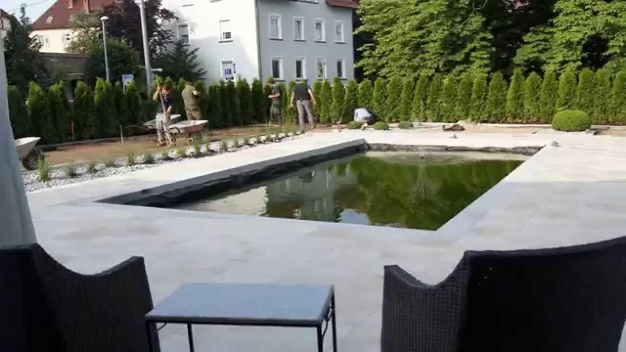Garten umbau mit schwimm und koiteich 2013 zeitraffer for Garten umbau