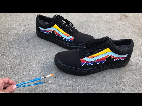 HOW TO CUSTOMIZE YOUR BLACK VANS (Sunset Edition) thumbnail