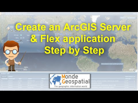 Create an ArcGIS Server & Flex application step by step