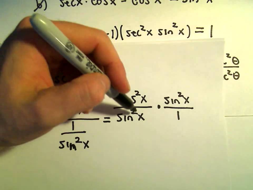 Simplifying Trigonometric Expressions Using Identities Example 3