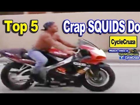Top 5 STUPID Things Motorcycle SQUIDS Do | MotoVlog
