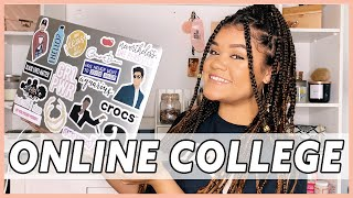 HOW TO SUCCEED IN ONLINE COLLEGE CLASSES | 10+ TIPS & TRICKS | alexia martin