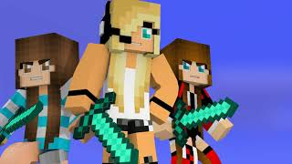 [SPED UP VERSION] Minecraft Song Psycho Girl 8 - Psycho Girl Minecraft Music Video Series