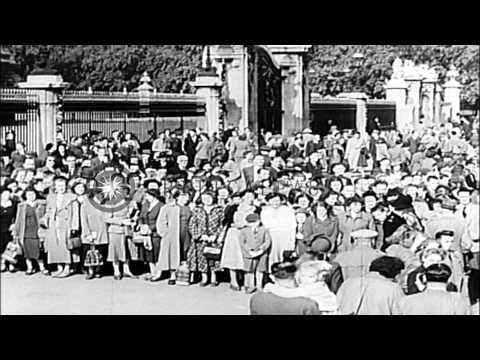 Death of King George VI of England and highlights of his life, from public school...HD Stock Footage