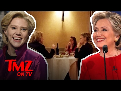 Hillary Clinton Has Dinner With SNL'S Kate McKinnon! | TMZ TV
