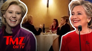 Hillary Clinton Has Dinner With SNL'S Kate McKinnon!   TMZ TV