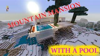 MINECRAFT MOUNTAIN MANSION BUILD Part1