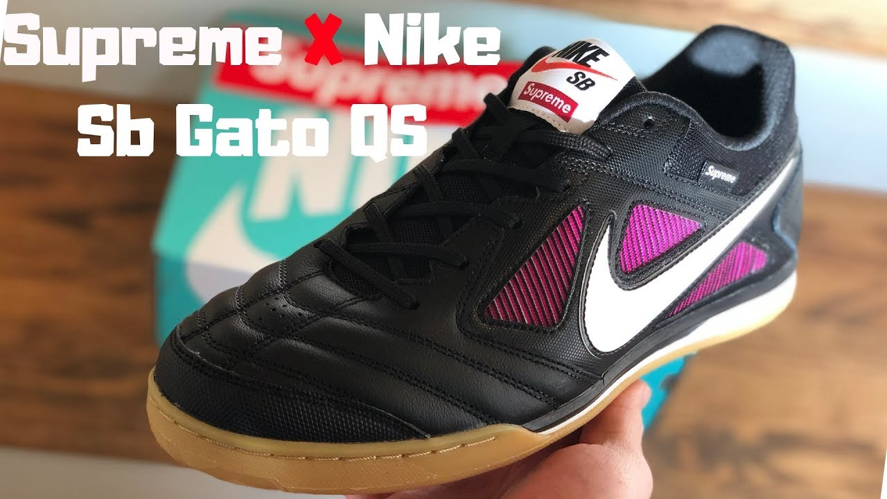 fe8d8afbdec Supreme X Nike Sb Gato QS Sneaker Review - YouTube