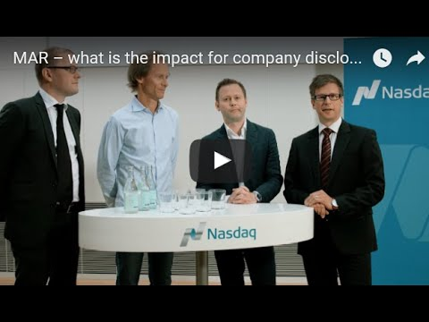 MAR – what is the impact for company disclosures?