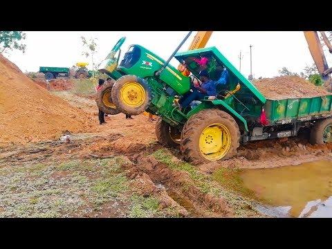 John Deere 5039C Stucked In Mud