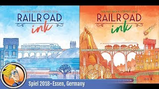 Railroad Ink — game overview at SPIEL '18