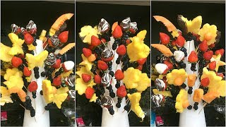 DIY Edible Arrangement Bouquet How To Edible Arrangement Bouquet