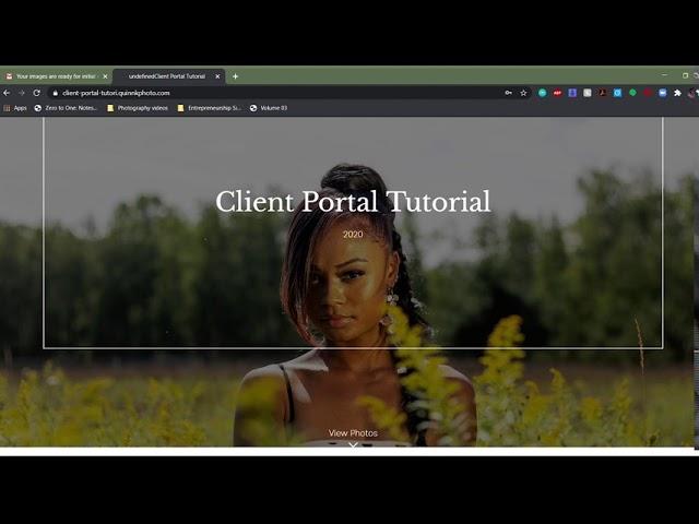 Quinn Kirby Photography Client Portal Tutorial