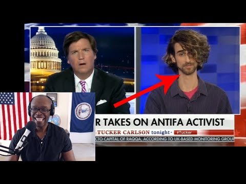 Tucker Carlson Debates Pro-AntiFa Nutty Professor With Very Long Neck (REACTION)