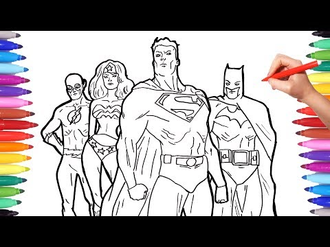 Superheros Coloring Pages   Coloring Superheroes   Batman Superman Flash Justice League