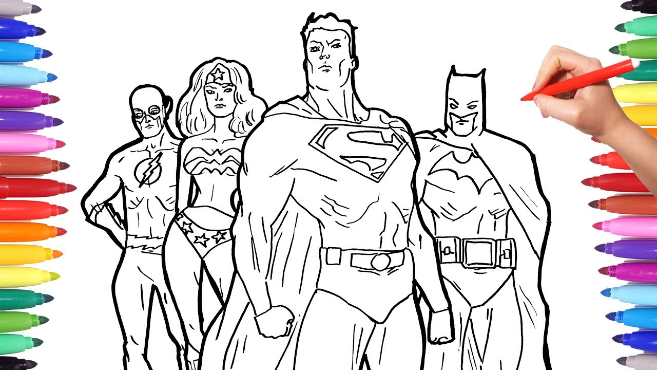 photograph about Superheroes Printable Coloring Pages referred to as Superheros Coloring Internet pages Coloring Superheroes Batman Superman Flash Justice League