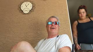 My dad's color blind glasses reaction