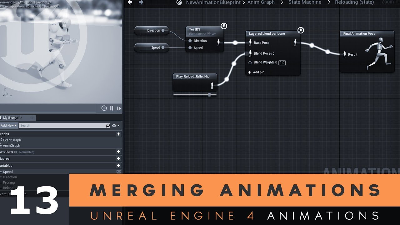Merging Animations - #13 Unreal Engine 4 Animation Essentials Tutorial  Series