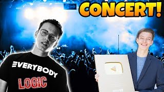BEST CONCERT OF MY LIFE! Logic, NF, Magic Tricks, 1 Mil Play Button & MORE! In Real Life VLOG!