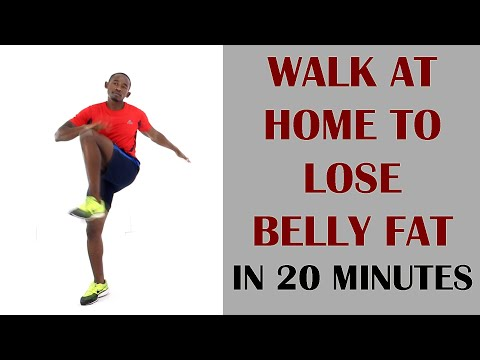 Walk At Home To Lose Belly Fat in 20 Minutes | HIIT Walking Indoors