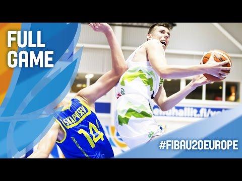 Slovenia v Ukraine - Full Game - FIBA U20 European Championship 2016