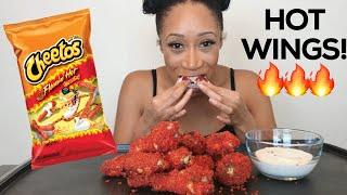 FLAMING HOT CHEETO FRIED CHICKEN WINGS