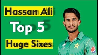vuclip Hassan Ali Top 5 Huge Sixes by  Sports Point