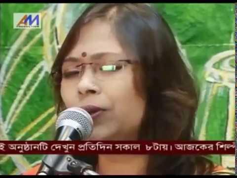 """Nazrulgeeti,  """"Jakhon Amar Gaan Furabe'"""", performed by Sukanya..."""