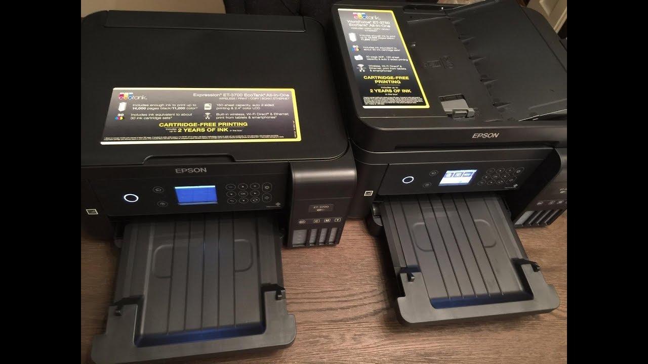 Epson WorkForce ET-3750 VS Epson ET-3700 Printer - Review and Comparsion