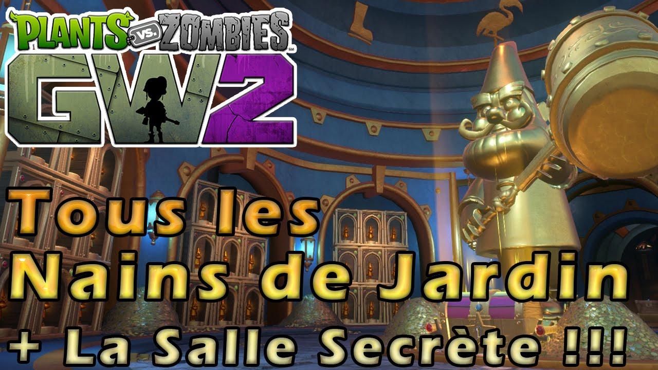 PVZ Garden Warfare 2 | All Golden Gnome Locations + Secret Zone