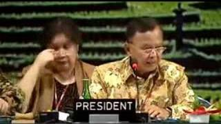 Bali climate summit final plenary / part1