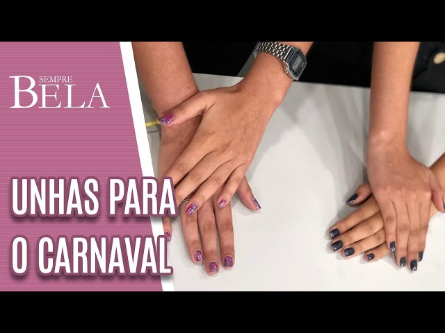 Tendência de Unhas para o Carnaval - Sempre Bela (24/02/19)