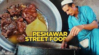 food tour of peshawar mutton chanp rosh at ghanta ghar karkhano pakistani street food