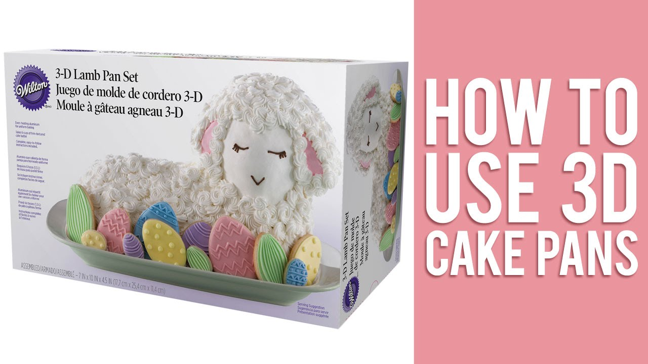 How To Use 3d Cake Pans To Bake Stand Up Cakes Youtube