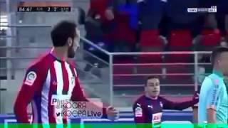 JUANFRAN GOAL - ATLETICO MADRID VS EIBAR (2-2) 2017 HD