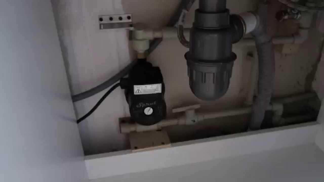 Установка в квартире насоса, повышающего давление воды GPD 15-9A