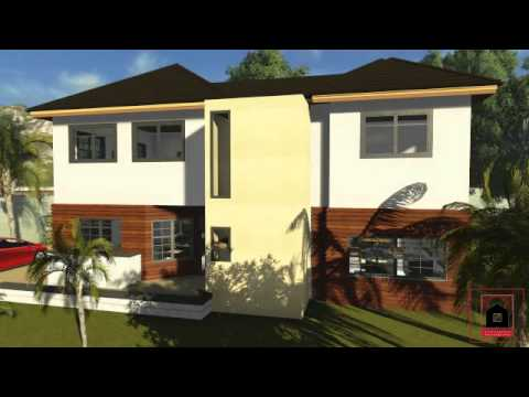 Caribbean house plans plan 01 virtual tour youtube for Caribbean house designs